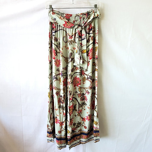 Angie Rayon Flowy Pants with Smocking - M