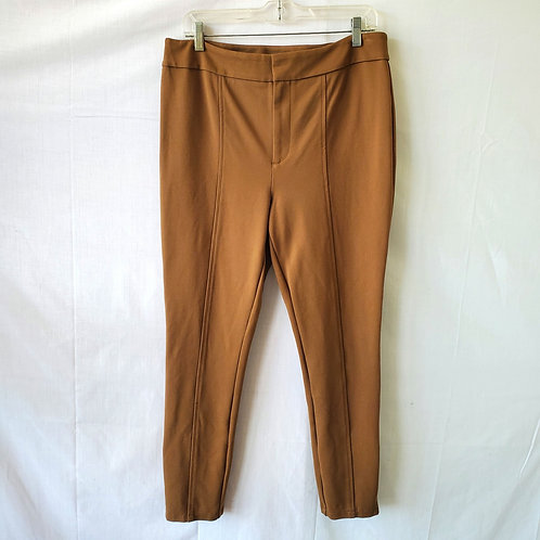 Anthropologie Essential Slim Pants with Ankle Zips - size 12