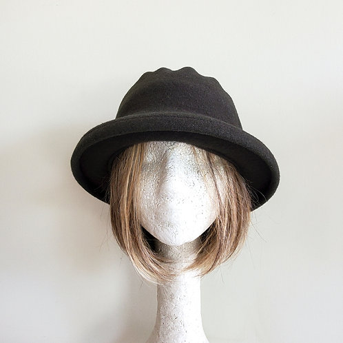 Dark Olive Green Hat - approx S