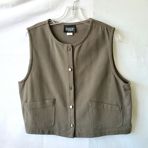 Eileen Fisher Snap Front Vest - M