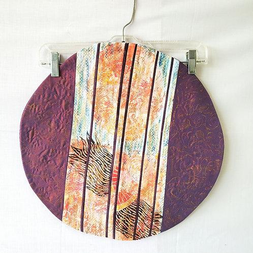 Handmade Quilted Silk Art Piece