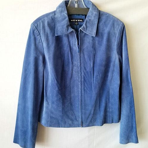 Révue Blue Suede Jacket - size 12