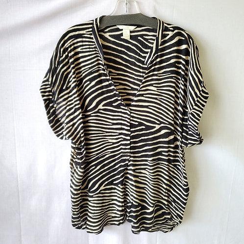 H&M Zebra Print Viscose Top - size 14