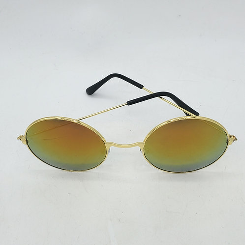 Round Gold Iridescent Sunglasses