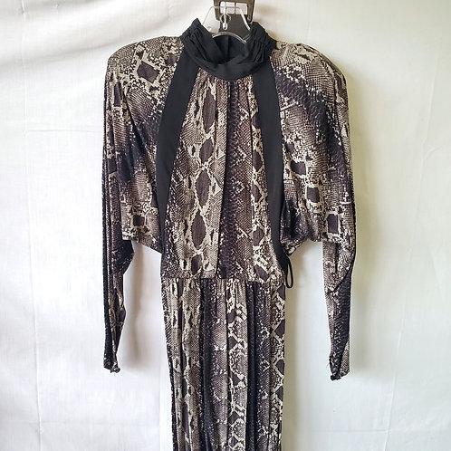 Vintage Barbara Barbara Semisheer Open Back Dress - approx S