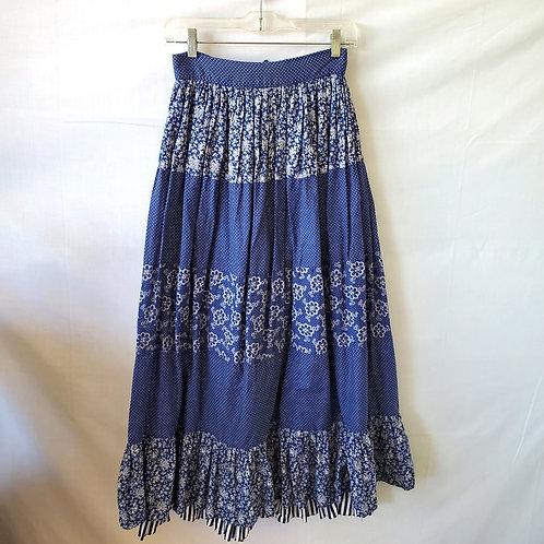 Vintage Ellen Tracy Tiered Prairie Skirt - size 9