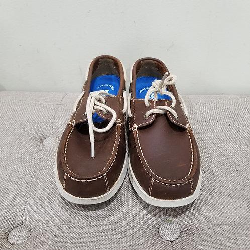 Nunn Bush Leather Boat Shoes - size 8W