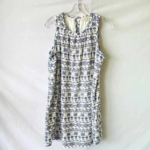 LOFT Blue & White Shift Dress - S