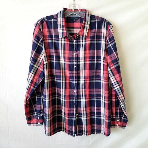 Tommy Hilfiger Cotton Plaid Shirt - XL - As Is