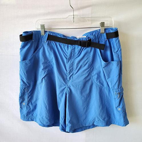 Columbia Blue Nylon Shorts with Belt - XL