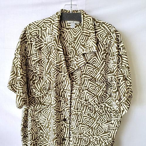 Vintage SpenserJeremy Silk Shirtdress - size 10
