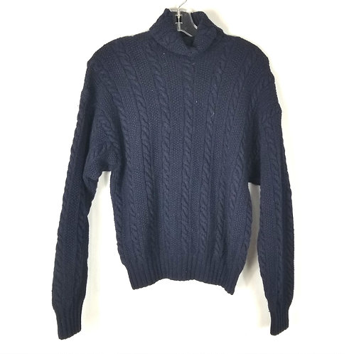 Polo Ralph Lauren Navy Wool Turtleneck - S