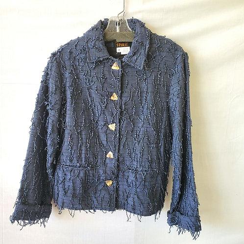 Kindred Spirit Cotton Jacket with Fringe - M