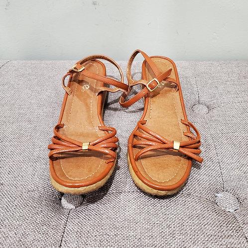 Vintage Joyce Ankle Strap Sandals with Gum Soles - size 7.5N
