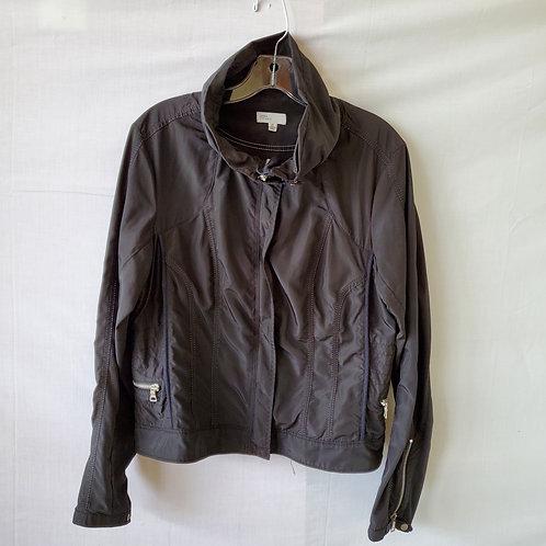 Linea Domani Black Nylon Moto Jacket  - size 10