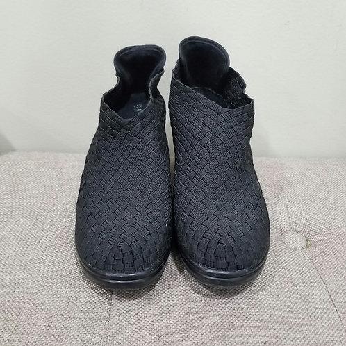Bernie Mev Black Woven Heels - size 39