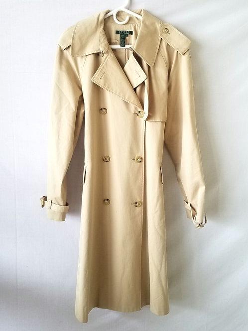 Ralph Lauren Classic Cotton Trench Coat - L