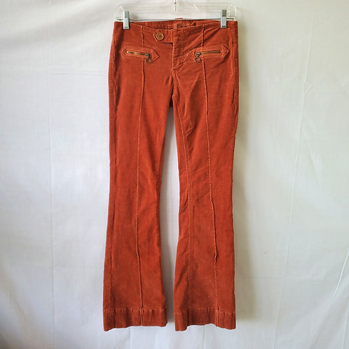 Dittos Low Rise Flare Corduroy Pants - size 26