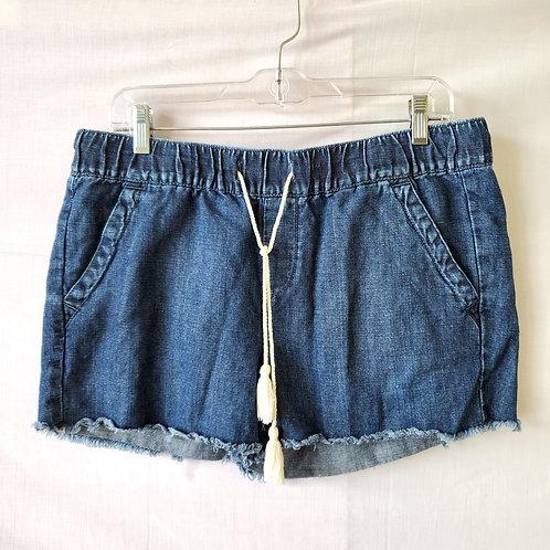 LOFT Denim Chambray Drawstring Shorts - size 4