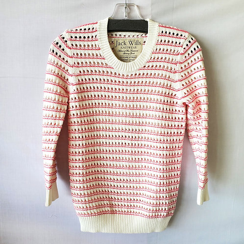 Jack Wills Open Knit Cotton Sweater - size 2
