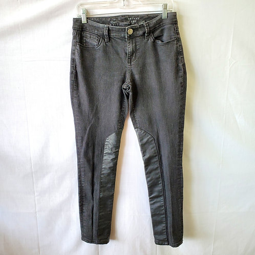 The Limited Skinny Jeans with Leatherette Panels - size 6