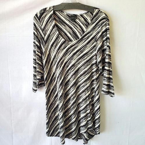 Staples Asymmetrical Striped Tunic Top - L
