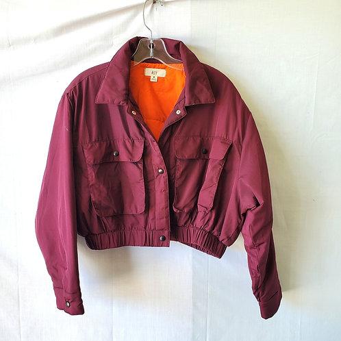 Azy Cropped Puffer Jacket - M