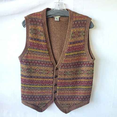Christopher Hayes Pure Wool Sweater Vest - S