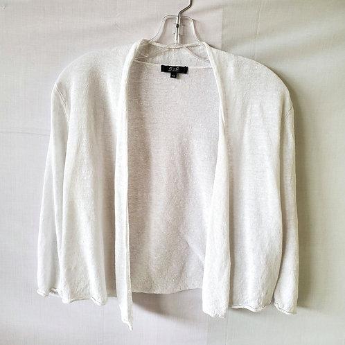 G & C United Knitwear Linen Cropped Open Sweater  - XS