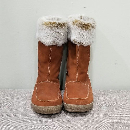Faux Fur & Faux Shearling Lined Boots - size 10M