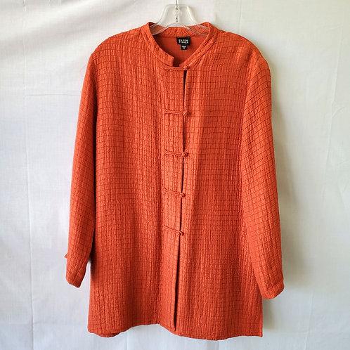 Eileen Fisher Silk & Linen Tunic Length Top - M