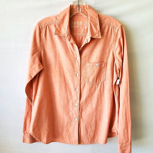 GAP Peach Cotton Button Up - S - New