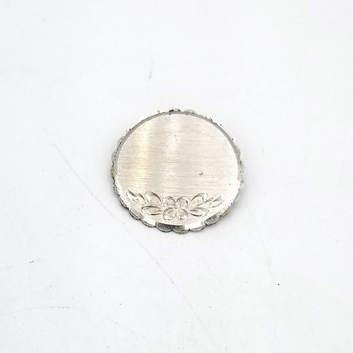 Etched Sterling Disc Pin