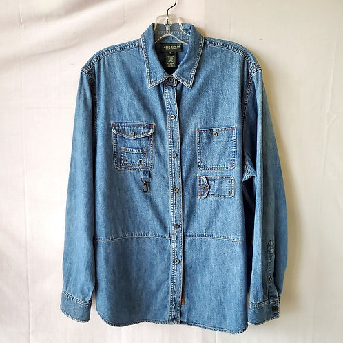 Ralph Lauren Jeans Cotton Denim Shirt Jacket - size 16