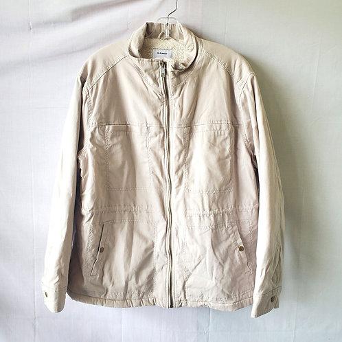 Old Navy Khaki Jacket with Sherpa Lining - XL - New