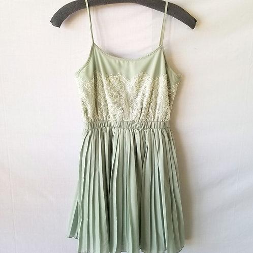 Delia's Mint Green Pleated Dress - XS