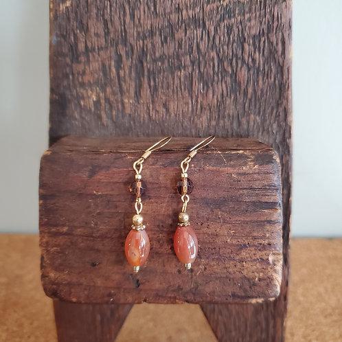 Polished Agate Bead Earrings