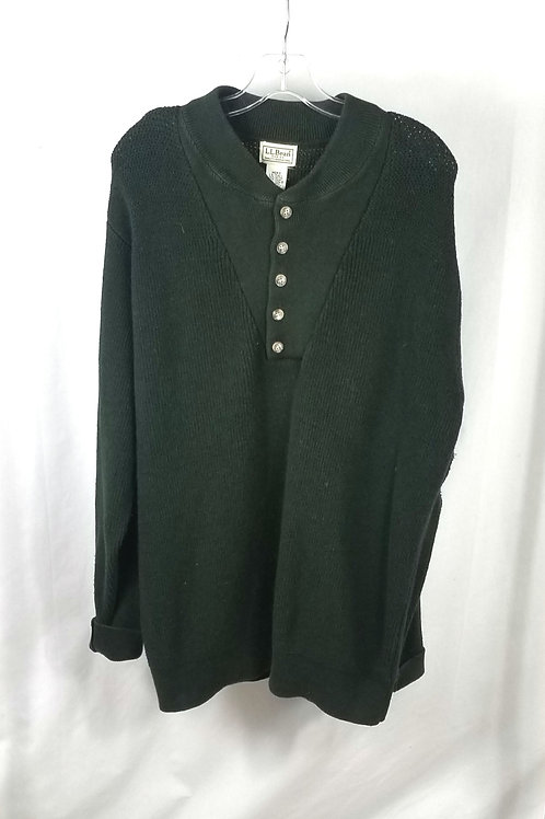 LL Bean Hunter Green Cotton Blend Sweater - L Tall