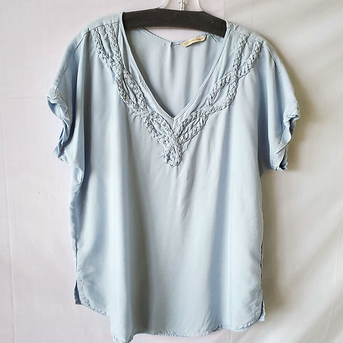 Soft Surroundings Tencel Tunic with Braiding Detail - M
