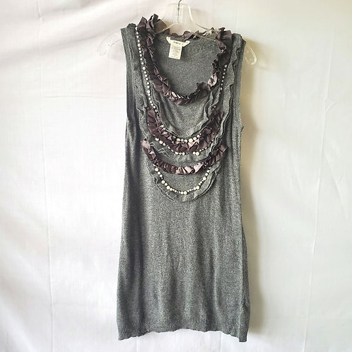 Esley Knit Tunic with Embellishment - S