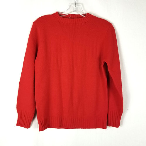 Vintage Lanza Cherry Red Orlon Sweater - approx S