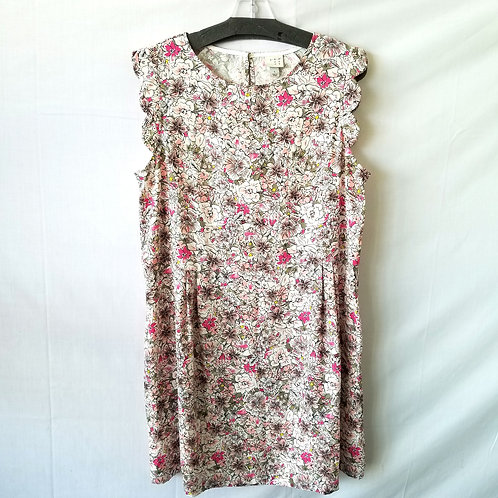 A New Day Scallop Sleeve Floral Dress - L