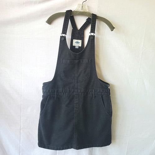 Old Navy Black Denim Overall Skirt - size 14