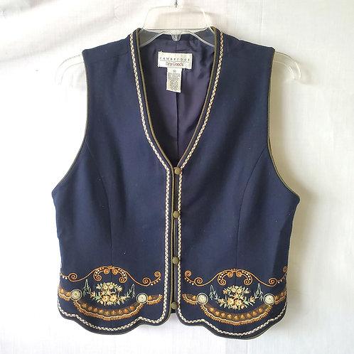 Cambridge Dry Goods Embroidered Vest - M