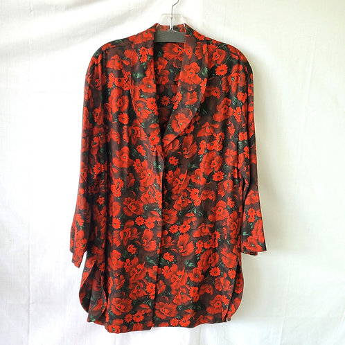 Vintage Handmade Button Up Tunic - approx L