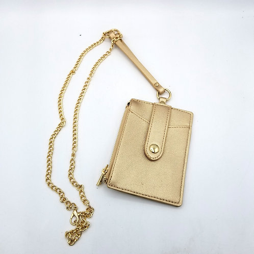 Card Holder with Necklace Chain