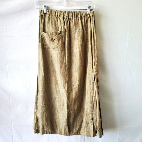 Linen Skirt with Pocket - approx M
