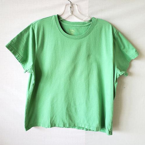 LL Bean Spring Green Cotton Boxy Tee - M