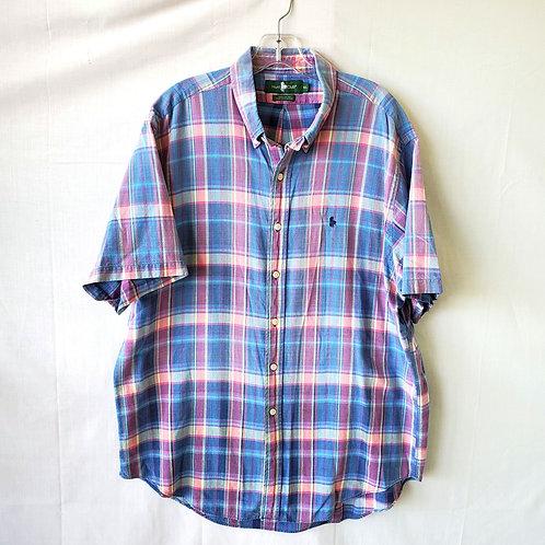 Hunt Club Cotton Plaid Button Up - XL