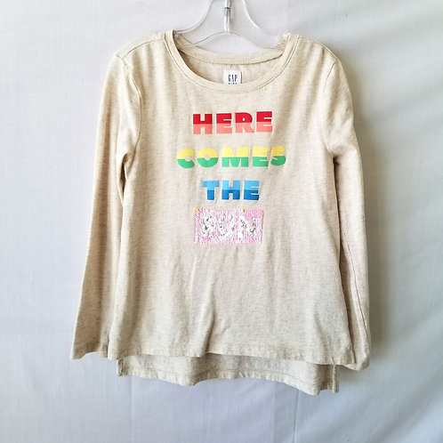 Gap Kids Flip Sequin Long Sleeve Tee - size S